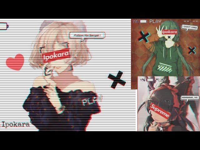 Cara Edit Foto Anime Glitch Supreme Di Android Picsart Youtube