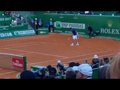 Novak Djokovic vs Pablo Carreno Busta 3rd round 2017 Monte Carlo Rolex Masters (video 3)
