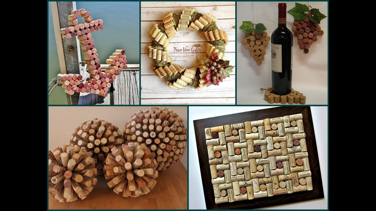best diy wine cork ideas recycled home decor youtube