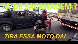 MOTOCA TOMOU BRONCA DOS CARA DO BOPE TENTEI COLOCAR 130 kmh thumbnail