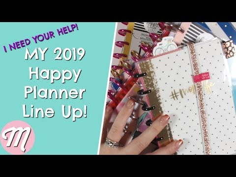 I Need Your Help! My 2019 Happy Planner Line Up + What To Do With Multiple Planners