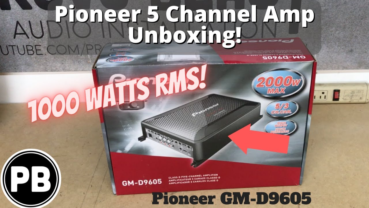 pioneer 9605. pioneer 5 channel amp unboxing | gm-d9605 9605 o