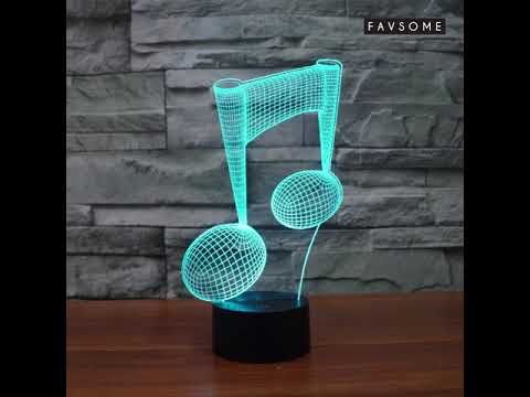 Music Note 3D LED Lamp