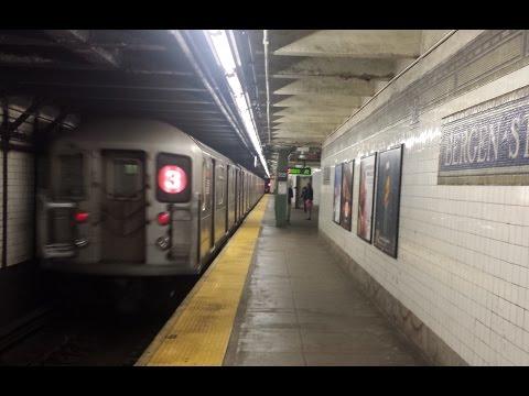 IRT Subway: Flatbush Ave & New Lots Ave Bound R142 & R62 (2) (3) Trains @ Bergen Street