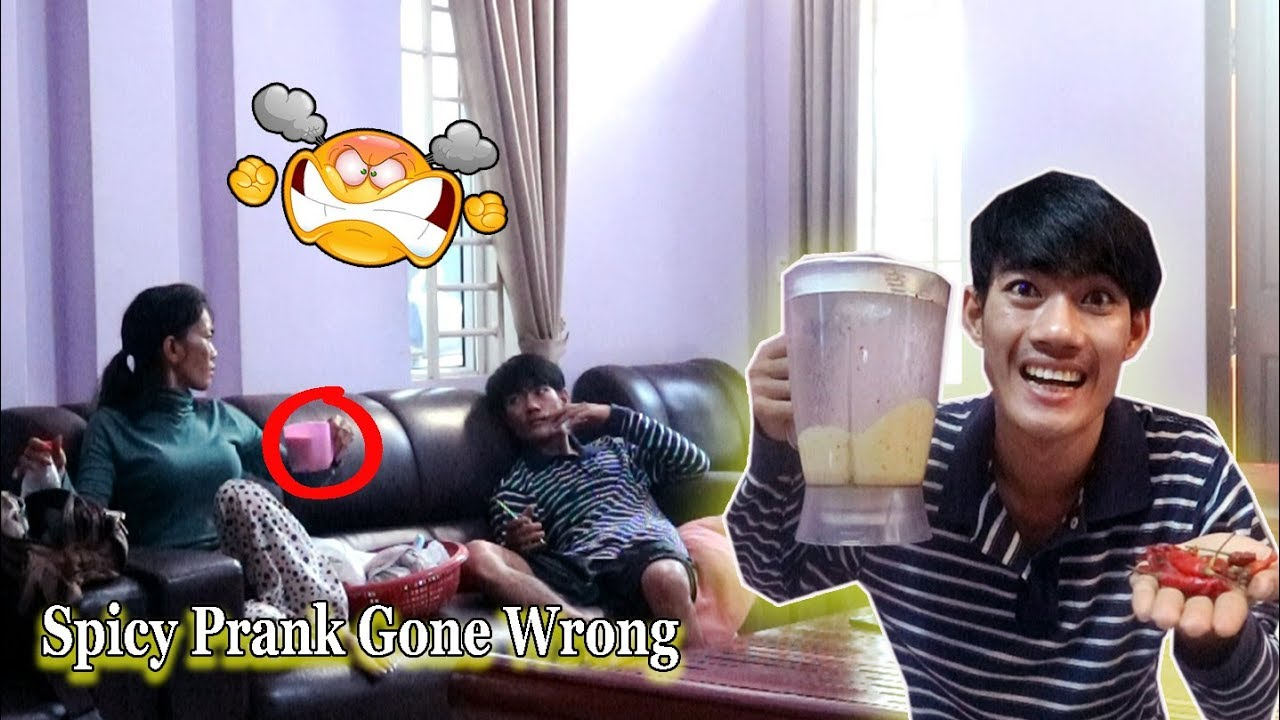 Spicy Smoothie Prank On My Mom *Gone Wrong* Khmer Prank 2019 / Drawing Life