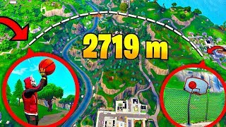 *NEW* 2791M WORLD RECORD LONGEST BASKETBALL SHOT in Fortnite..!