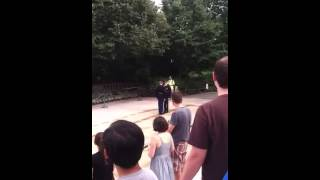 Idiot lady won't stand at the Tomb of the Unknown Soldier C