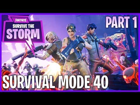 FORTNITE! Survival Mode 40+ Part 1 #Fortnite