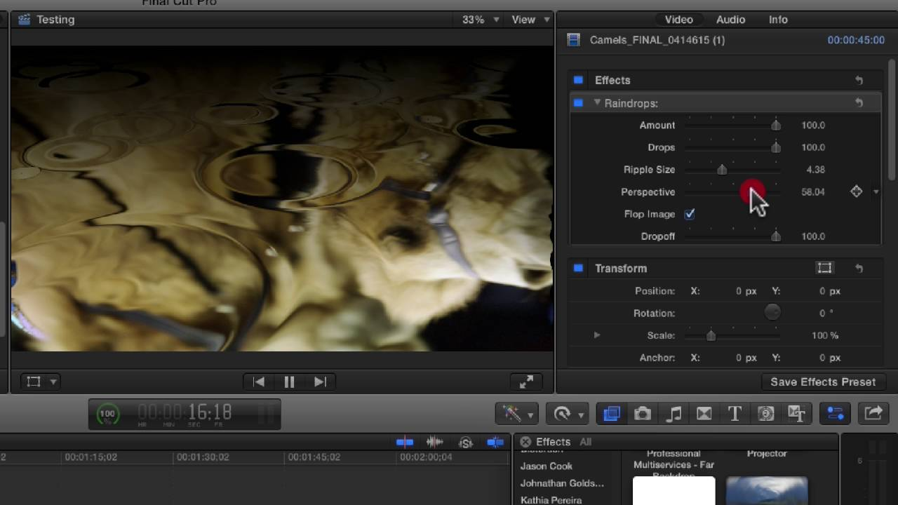 Final Cut Pro X Filters - Radial through Raster
