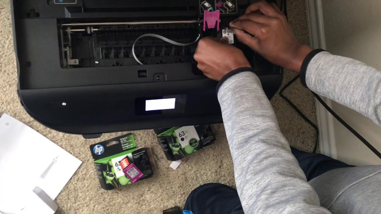 Ink Cartridge Replacement For Hp Officejet 5255 Youtube