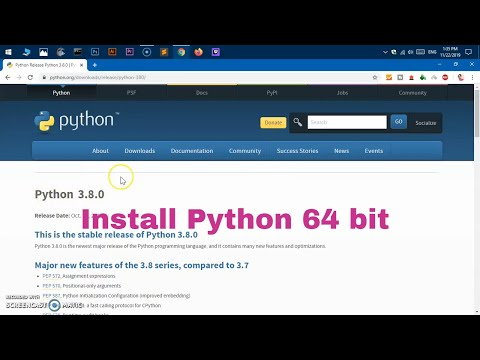 How To Install Python 3.8 - 64 Bit