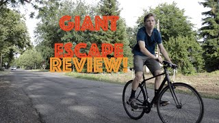 Giant Escape 3 Review! Best Sporty Commuter Bike!(Giant Escape Review! Best Sporty Commuter Bike! This is my review of the Giant Escape. I ride this to school almost everyday and it performs great., 2016-05-08T15:00:00.000Z)