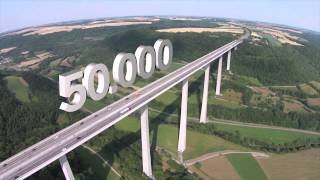Größte Talbrücke Deutschlands - Kochertalbrücke | Die Region von oben
