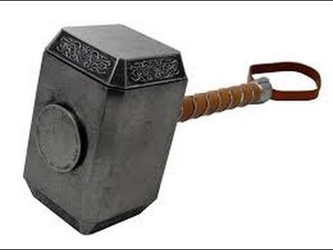 diy mjolnir thor s hammer part 1 youtube