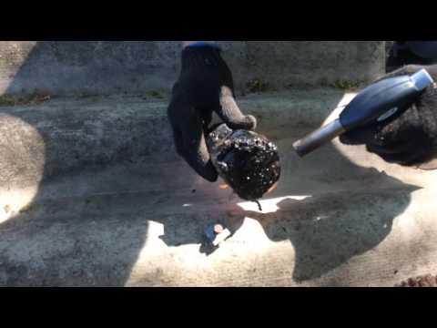 Как заделать трещину в шифере
