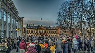 Joulurauhan julistus Suomen Turusta 2017  Declaration of Christmas Peace in Turku Finland
