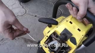 Смотреть видео бензопила чемпион 137 ремонт своими руками