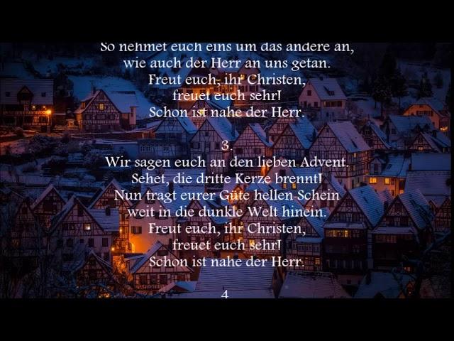 Wir Sagen Euch An Den Lieben Advent Chords Chordify