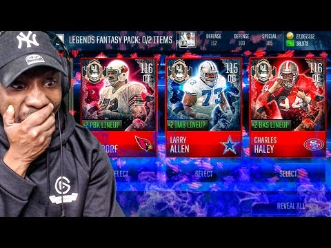 ULTIMATE LEGEND FANTASY PACK OPENING & 116 OVR LEGEND SETS! Madden Mobile 18 Gameplay Ep. 41