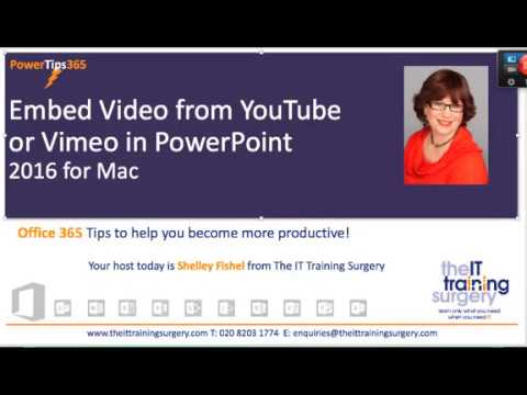 How to add youtube video to powerpoint for mac