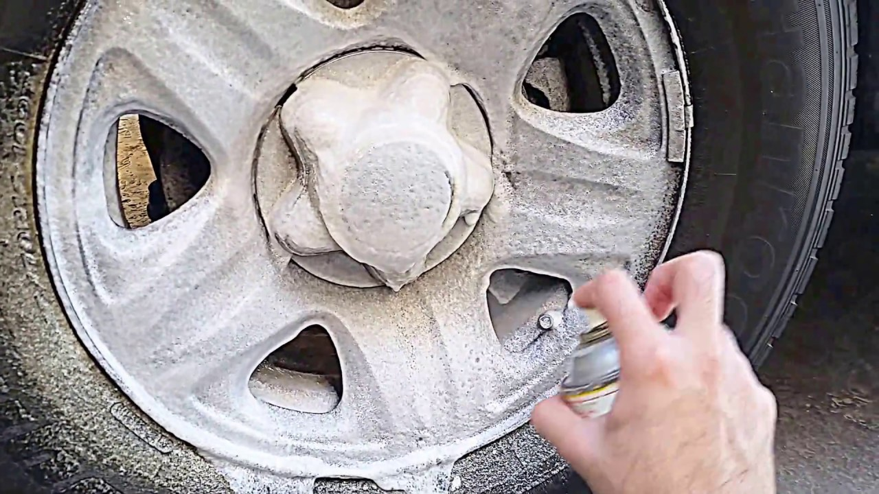 Cleaning aluminum wheels with oven cleaner