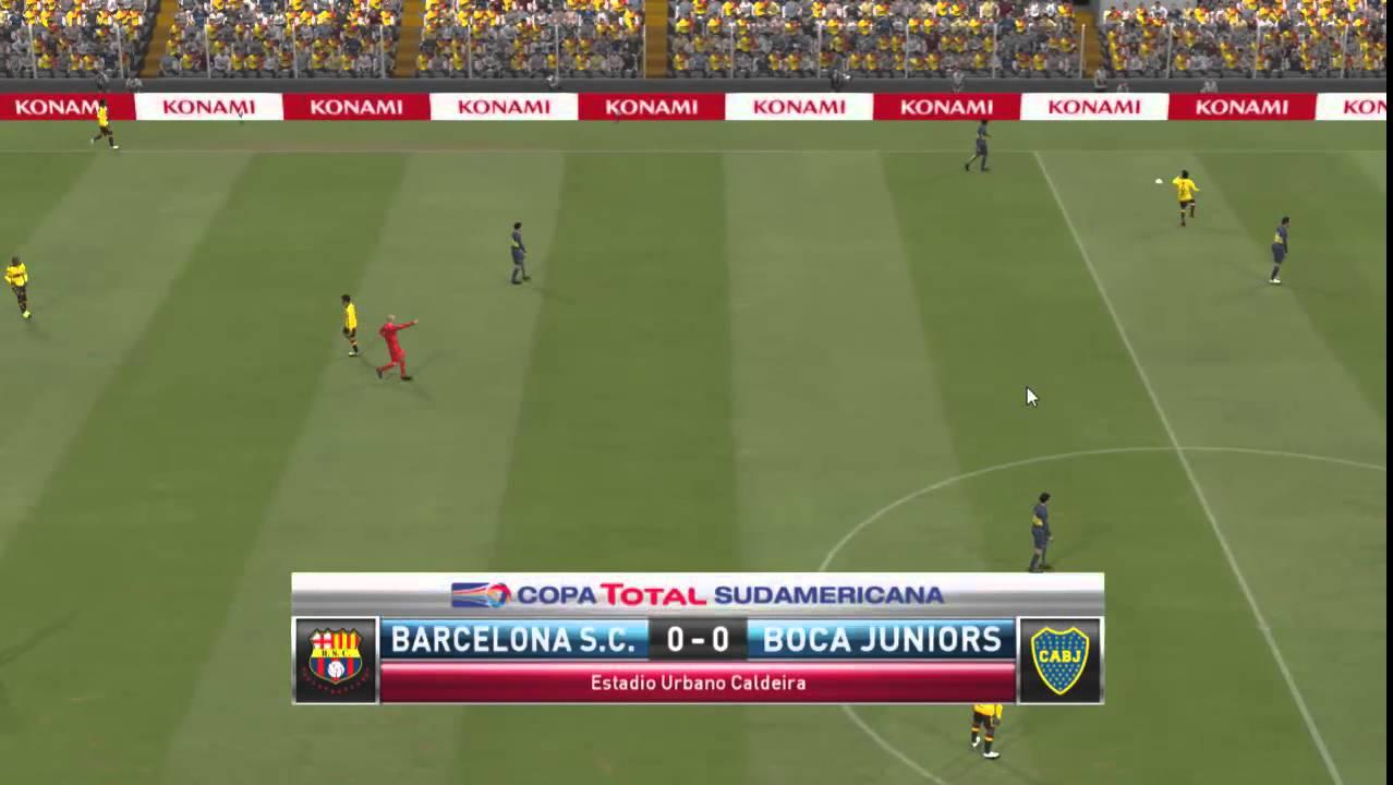 Barcelona Sporting Club 0 vs Boca Juniors 0 Pes 2015 - YouTube
