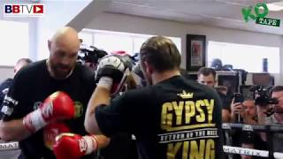 FAST AND LEAN!! TYSON FURY HITS THE PADS AT HATTON'S GYM