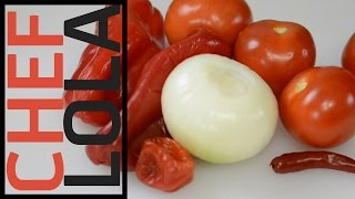 How To Make Blended Tomato And Pepper Sauce - Chef Lola's Kitchen