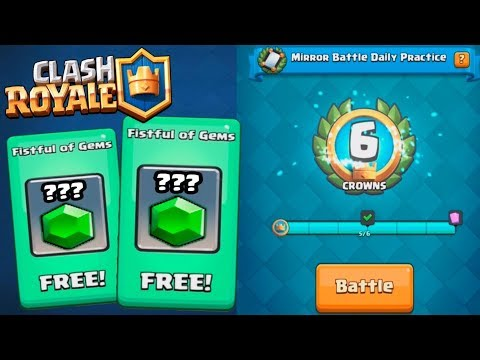 NEW MIRROR CHALLENGE AND FREE GEMS :: Clash Royale :: AWESOME EPIC CHEST OPENING!