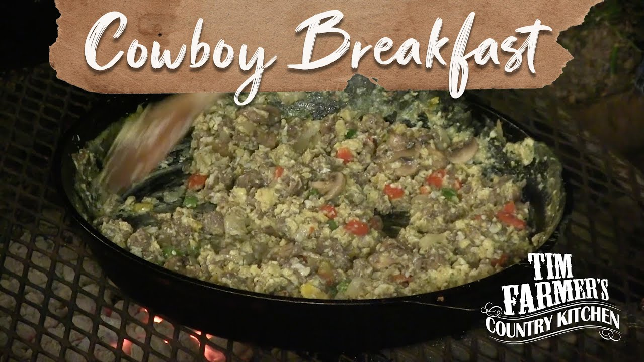 Cowboy Campfire Cooking Breakfast And Quot Magic Quot Pie Episode