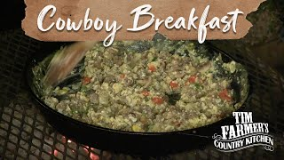 "Cowboy Campfire Cooking Breakfast And ""magic"" Pie (episode #122)"