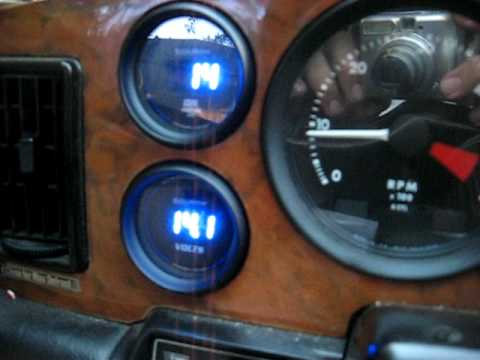 hqdefault auto meter cobalt digital voltmeter and oil pressure gauge in a