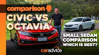 2019 Honda Civic RS v Skoda Octavia Sport: small sedan (saloons) comparison | CarAdvice