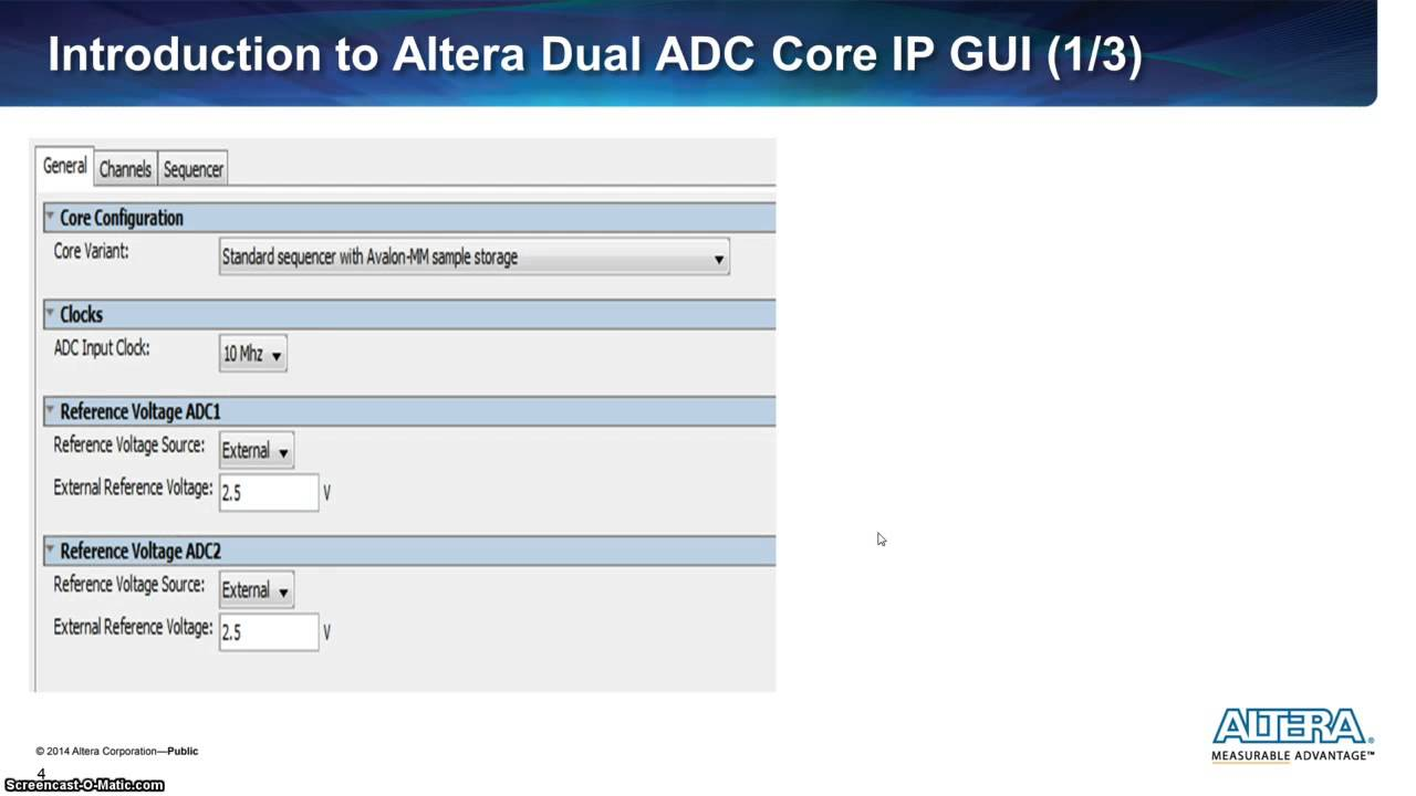 How to create simultaneous measurement with Max 10 ADC Part 1