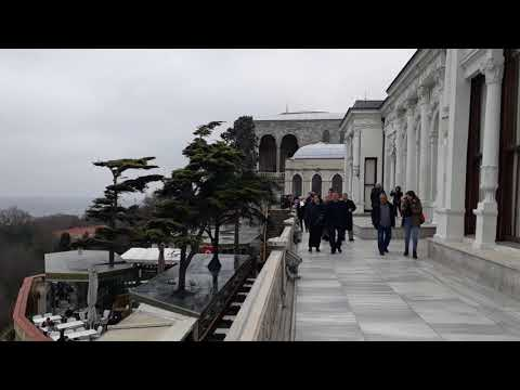 Bosphorous sea view from Topkapi palace Istanbul Turkey 16-2-2018