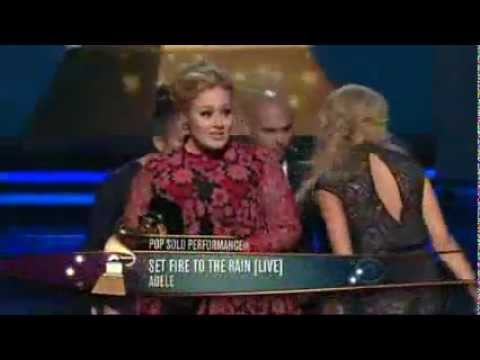 Grammy Awards 2013  Adele accepts Best Pop Solo Performance   YouTube