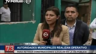 Callao: Derrumban construcciones ilegales que invadían vía pública thumbnail