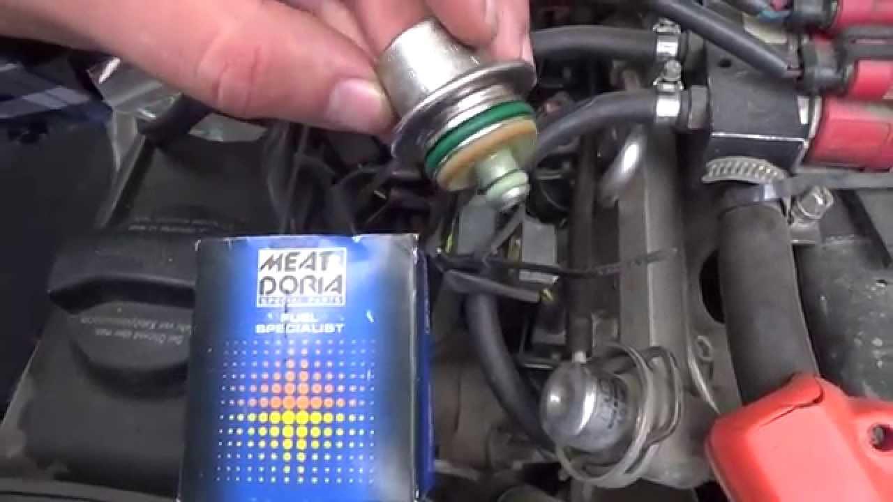 замена датчика давления топлива на peugeot