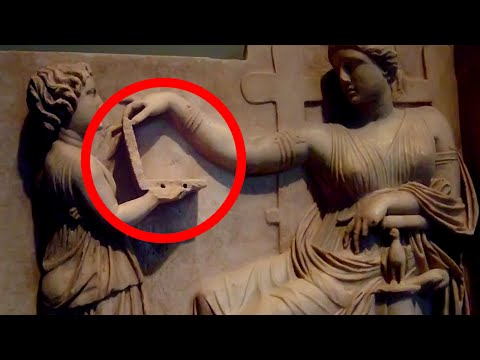 PROOF OF TIME TRAVEL - Laptop in Ancient Sculpture