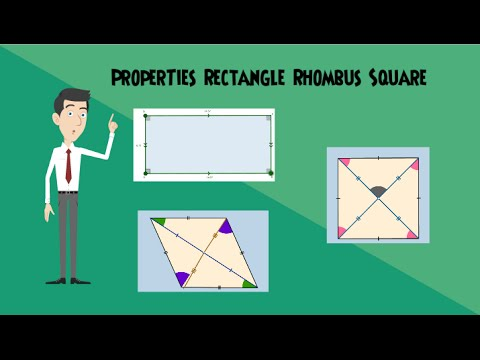 Properties Of A Rhombus Rectangle And A Square Youtube