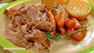 Slow Cooker Pork Roast and Subs (Episode 1)