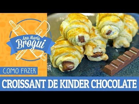 COMO FAZER CROISSANT DE KINDER CHOCOLATE | Feat. Cátia Fonseca | Ana Maria Brogui #329