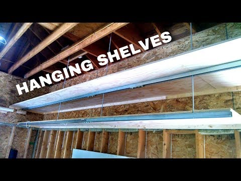 DIY Hanging Shelves, Garage Storage Built with Steel Strut