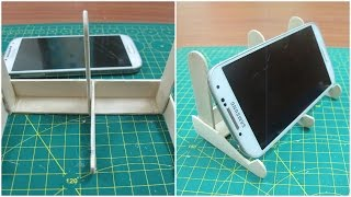 How to make iphone stand with popsicle sticks | DIY using popsicle sticks