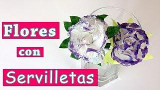 Como hacer flores con servilletas de papel | Manualidades Para Todos