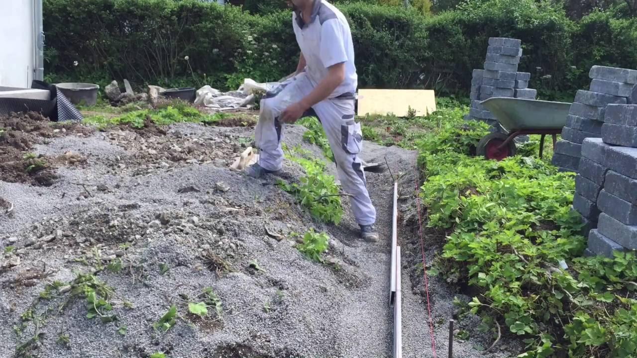 Terrasse Bauen Betonsteinmauer Gartenbau Garten Youtube