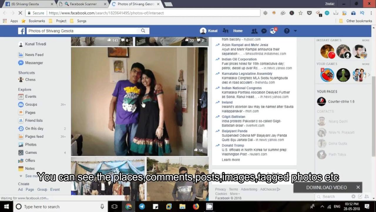 Facebook Hacking Using StalkScan