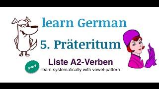 Learn German: TEIL 5: Präteritum Verb List A2
