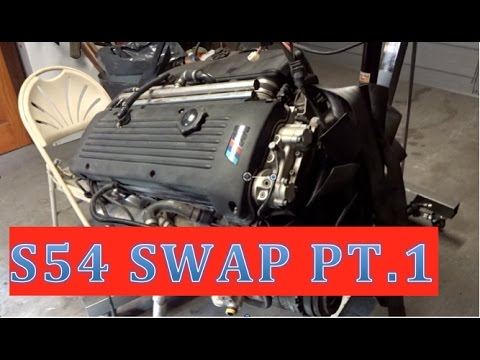 hqdefault e46 s54 swap (part 1) disassembly, smg to manual harness youtube