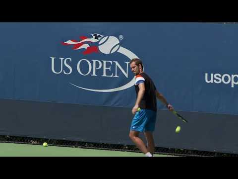 LIVE US Open Tennis 2017: Wozniacki, Goffin, Gasquet, Kyrgios, Kuznetsova Practice - Part 01